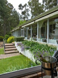 The verandah at la Petite Ferm - bookings are a must