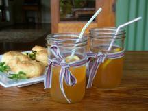 Ice tea and scones