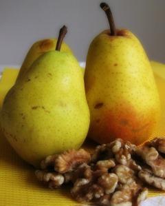 Pear and walnut
