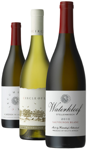 Waterkloof's wine ranges: Waterkloof, Circle of Life and Circumstace. Photo courtesy: Waterkloof